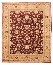 Vintage Hand-knotted Carpet 8and0390 X 9and0399 Traditional Oriental Wool Area Rug