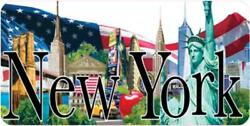 New York World Trade Freedom Tower Metal Sign Metal Plate 11 13/16in Souvenirs