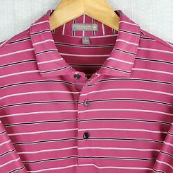 Peter Millar X Conway Farms Summer Comfort Large Mens Berry Red Polo Shirt Golf