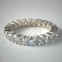 Lab Grown Diamond Wedding Eternity Band 2.00 Ct Solid 14k White Gold Size 6 7 8