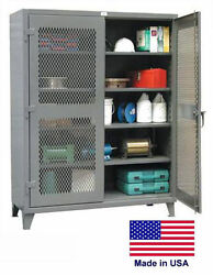 Steel Cabinet Commercial/industrial - Ventilated - Lockable - 78 H X 24 D X 36 W