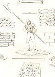 1830 Print Weapons Arms And Armour Jazerine Pike Helmet Chainmail 1485 Medieval