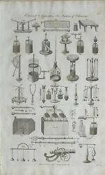 1790 Dated Print Electrical Apparatus Electricity Various Apparatus Experiments