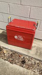 Vintage 1960's Coca-cola Cooler W/tray Things Go Better With Coke Soda