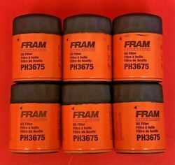 Case Of 6 Engine Oil Filter Fram Extra Guard Ph3675 For Chevrolet Cadillac Gmc