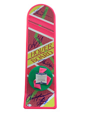 Michael J Fox + 3 Signed Autograph Cast Hoverboard - Back To The Future Bas 17