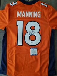 Autographed Peyton Manning Authentic Nike On Field Denver Broncos Men's Jersey