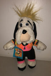 """Hannah Barbera Droopy Dog Plush 11"""" With Tag 1989 Turner Entertainment Co."""