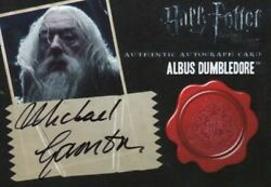 Harry Potter Deathly Hallows 2 Michael Gambon As Dumbledore Autograph Card