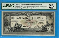 10 1917 Canadian Bank Of Commerce Chartered Note 75-16-02-06 - Pmg Vf-25