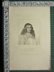 1798 Dated Antique Print Francis North Lord Keeper Guildford