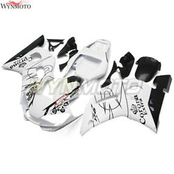 Motorcycle Abs Fairings For Yamaha Yzf-600 R6 1998 1999 00 01 2002 White Black