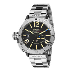 U-boat Sommerso Diver Menand039s Watch Stainless Steel