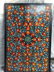 4and039x2.5and039 Dining Coffee Marble Table Top Inlay Pietra Dura Work Home Decor