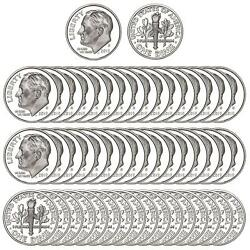 2020 S Roosevelt Dime Roll Gem Deep Cameo 99.9 Silver Proof 50 Us Coins