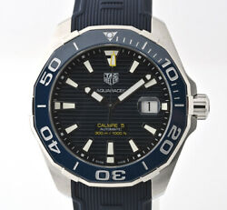 Tag Heuer Aquaracer Automatic Way201b.ft6150 Date Menand039s Watch Wl33405