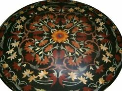36'' Marble Coffee Dining Table Top Stone Pietra Dura Inlay Antique Home Decor L