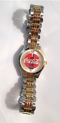 Vintage Coca-cola Watch Like New Metal Band New Battery