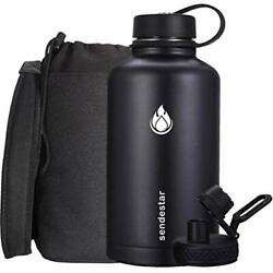Sendestar Stainless Steel Water Bottle-12oz 24oz 40oz Or 64oz With New Straw ...