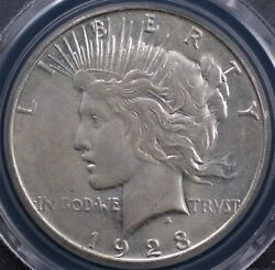 1923 S Peace Dollar Pcgs Ms 62 Chalky Off White A Nice And Original Example
