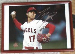 Shohei Otani Autographed Photo With Frame W/authentication From Japan