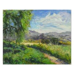 Charles Knecht Path To The Palms Original Oil