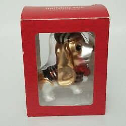 Holiday Pet Collection.Blown Glass Beagle Hound Christmas Ornament 4quot; X 4quot;5
