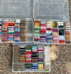 3 Boxes Embroidery Dmc Floss 363 Cards Skeins Lilly Bucilla Jp Coats Thread