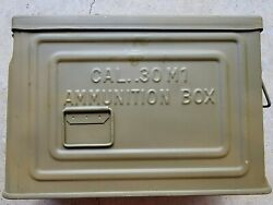 Ww2 30cal Ammo Can Canco Flaming Ball         Repainted