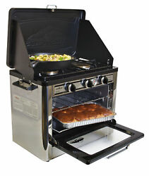 Convenient Double Burner Propane Gas Range And Stove Outdoor Travel Compact Size