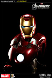 Brand New Sideshow The Avengers Iron Man Mark Vii Life Size Bust Statue In Stock