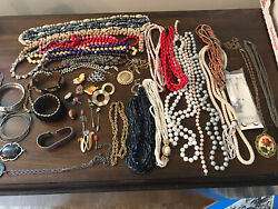 Antique Vintage Jewelry Lot Unresearched Costume Estate Buy Varied