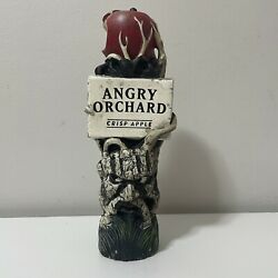 """Angry Orchard Crisp Apple Ale Beer Tap Handle, 8"""" Free Ship Used Angry Tree"""