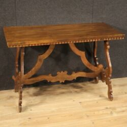 Refectory Table Desk Rectangular Furniture Wood Antique Style 20th Century 900