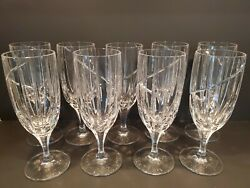 Set Of 9 - Uptown By Mikasa Crystal Iced Tea Glasses 8 3/8 Tall - Swirl
