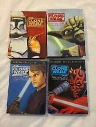Star Wars The Clone Of Wars The Complete Season 1 2 3 4 Dvd