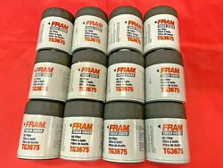 Case Of 12 Engine Oil Filter Fram Tough Guard Tg3675 For Chevrolet Cadillac Gmc