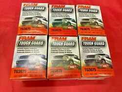 Case Of 6 Engine Oil Filter Fram Tough Guard Tg3675 For Chevrolet, Cadillac Gmc