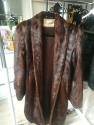 Montana Made - Brown Mink Fur Coat - Full Length. One Size Will Fit Most.