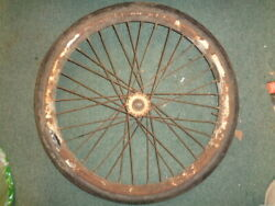 Used Original Simplex Servi Cycle Motorcycle Front Wheel Good Condition