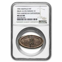 1901 Pan-american Expo. Buffalo Ny Pressed Ind. Cent Ms-63 Bn - Sku234445