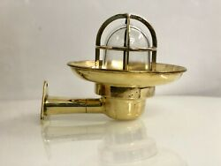 Original Vintage Brass Wall Sconce Light With Triangle Base Cover Shade Lot 10