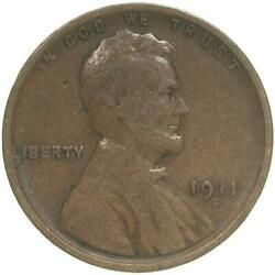 1911 S Lincoln Wheat Cent Very Good Penny Vg