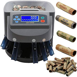 Professional Commercial Money Change Coin Counter Sorter Machine Wrapper/roller