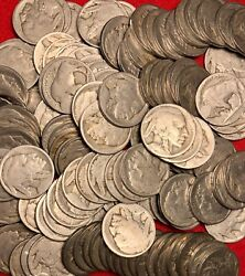 1913-1938 No Date Buffalo Nickels 5 Coin Lot Us Coins Collection Free Ship