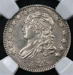 1825 Capped Bust Dime Large Dentils Ngc Ms 63 Crisp White With A Touch Of Cream