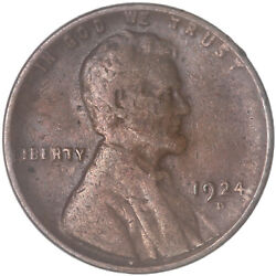 1924 D Lincoln Wheat Cent Very Good Penny Vg See Pics G900