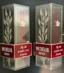 Pair Vintage Anheuser-busch Michelob Lighted Beer Signs
