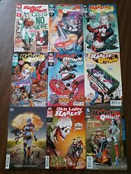 Lot Of 9 Harley Quinn Dc Comic Books Including Old Lady Harley And Variant Cover