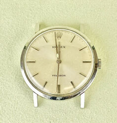 Rolex Vintage Precision 33mm Men's Stainless Steel Sweep Second Dress Watch